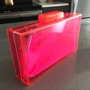 Zara Hot Pink Acrylic Clutch